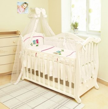 Детская постель Twins Evolution 7 элементов Сова A-020 розовый