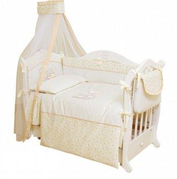 Детская постель Twins Romantik, 6 элементов Baloniki R-003 бежевый