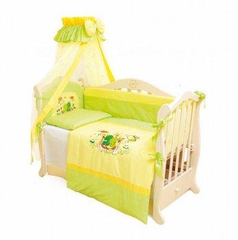 Детская постель Twins Evolution 4 элемента Лягушата /апликация A-014 зеленый