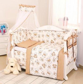 Детская постель Twins Dolce Мишки D-004 коричневый