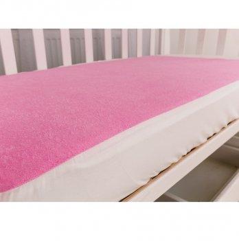 Наматрасник на резинке Twins Розовый 120х60 см