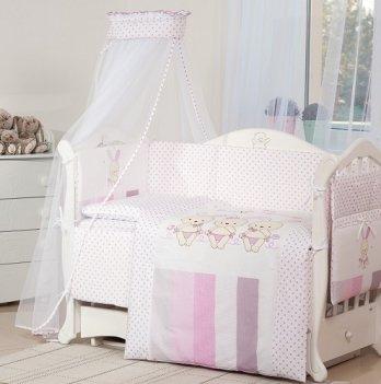 Детская постель Twins Dolce Друзья зайчики D-002 розовый
