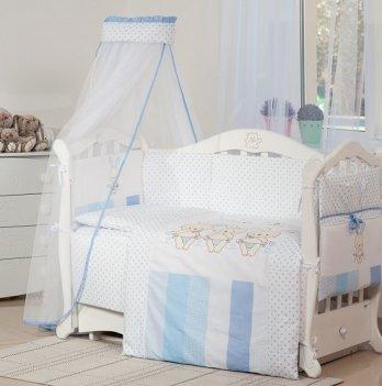 Детская постель Twins Dolce Друзья зайчики D-003 голубой