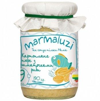 Пюре Marmaluzi картофель с кусочками рыбы 190 г