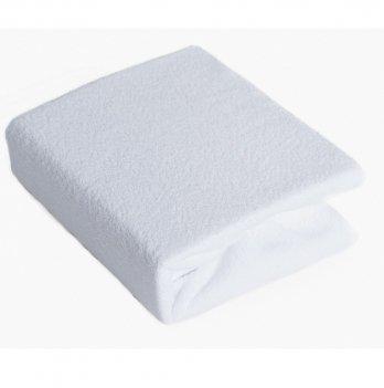 Простынь на резинке Twins махровая Белый 7000.01 120х60 см