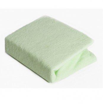 Простынь на резинке Twins махровая Зеленый 7000.19 120х60 см