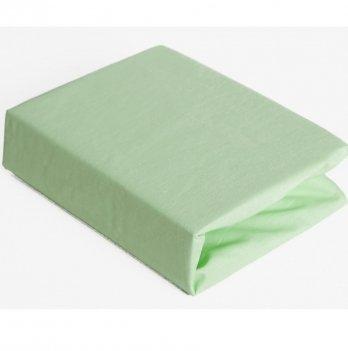 Простынь на резинке Twins хлопок Зеленый 6000.19 120х60 см