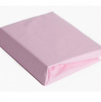 Простынь на резинке Twins хлопок Розовый 6000.08 120х60 см