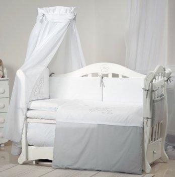 Детская постель Twins Dolce Loving bear D-008 белый/серый