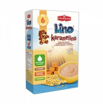 Каша пшеничная Podravka Lino Karamelino молочная, с карамелью 200 г