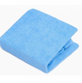 Простынь на резинке Twins махровая Синий 7000.09 120х60 см