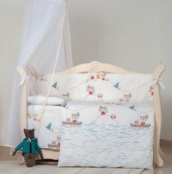 Детская постель Twins Eco Line Indian summer, 6 эл., E-012, голубой