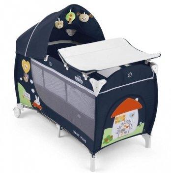 Кровать-манеж Cam Daily Plus, темно-синий