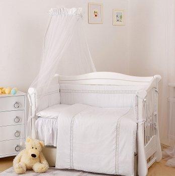 Детская постель Twins Magic sleep Ajour, 7 элементов М-007, белый