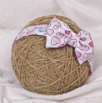 Повязка для девочки MagBaby Бантик, Сердечки розовые