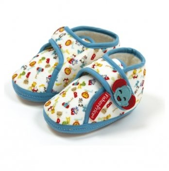Тапочки со стопером Arditex  Fisher-Price, голубые