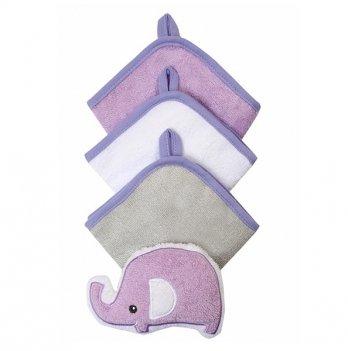 Набор мочалок для младенцев BabyOno 3 шт., фиолетовый
