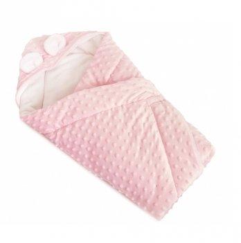 Конверт-плед Twins Minky Ушки шерстепон 1420.188.186.08 Розовый 80х80 см