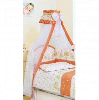 Балдахин для кроватки Twins Comfort Мишки со звездами C-118 Терракотовый