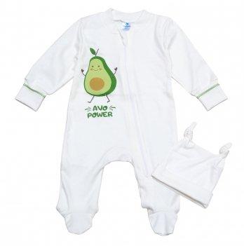 Человечек на молнии Minikin Авокадо 3-9 месяцев Молочный 2018403