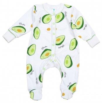 Человечек для новорожденных Minikin Авокадо 0-3 месяца Молочный/Зеленый 2018503