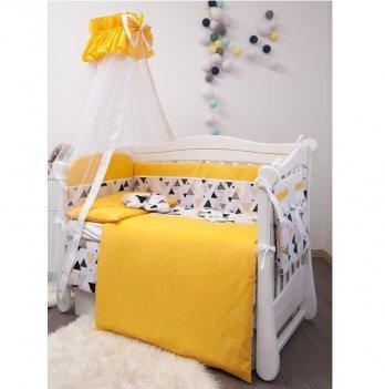 Комплект постельного белья Twins Premium Modern Эскимо Желтый 4028-P-105 9 предметов