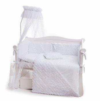 Комплект постельного белья Twins Romantic Ballet R-008 Белый 7 предметов