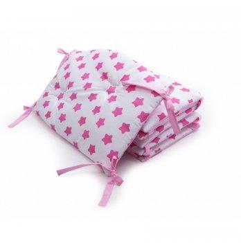 Бортики в детскую кроватку Twins Premium Звездочка стеганный Розовый