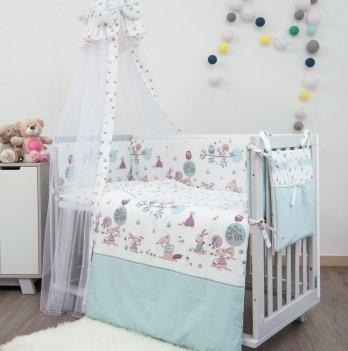Комплект постельного белья Twins Sweet Forest SW-011 Мятный 8 предметов