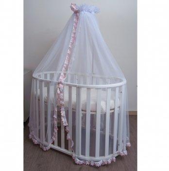 Балдахин для кроватки Twins iLove универсальный Розовый
