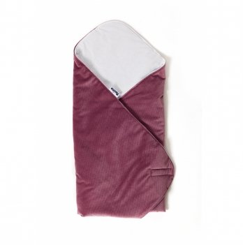 Конверт-плед Twins Velvet 9015-TW-23 пурпурный 80х80 см
