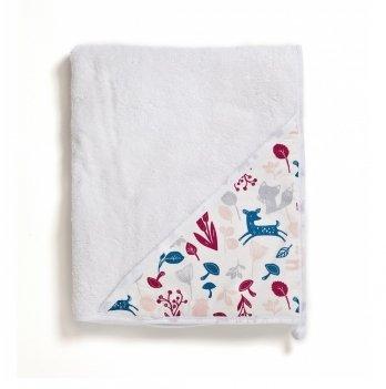 Полотенце-уголок с капюшоном Twins Aqua махра Белый 100х100 см