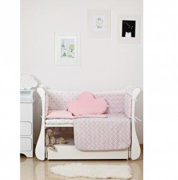 Комплект постельного белья Twins Dolce Insta Микки Розовый/Серебро 4075-D-503 6 предметов