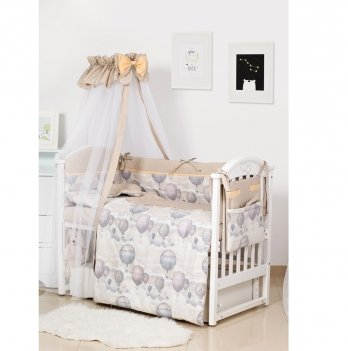 Комплект постельного белья Twins Premium Modern Воздушный шар Бежевый 4028-P-112 9 предметов