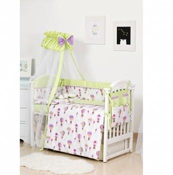 Комплект постельного белья Twins Premium Modern Воздушный шар Зеленый 4028-P-113 9 предметов