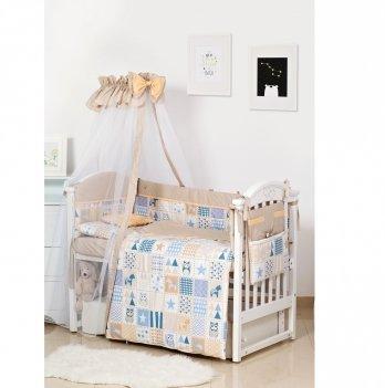 Комплект постельного белья Twins Premium Modern Сова Бежевый 4028-P-115 9 предметов