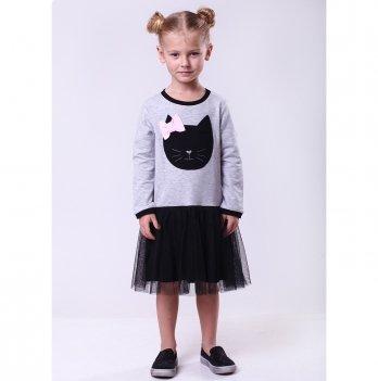 Детское платье Vidoli Cерый G-19839W-1