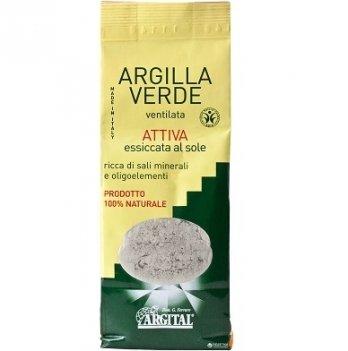 Активированная зеленая глина высушенная на солнце Argital 500 г
