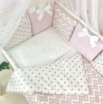 Комплект постельного белья Shine Маленькая Соня 034709 розовый зигзаг 3 предмета