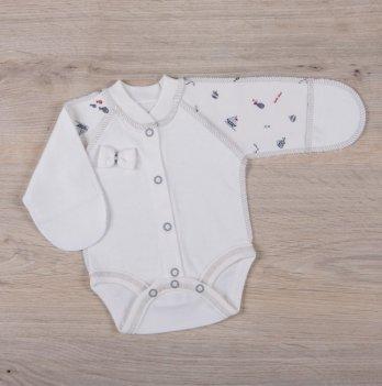 Бодик для новорожденных Бетис Бантик Молочный серый