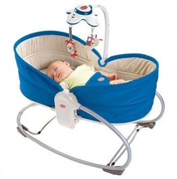 Кресло-кроватка-качалка 3-в-1 Tiny Love Мамина любовь, синее