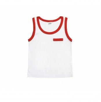 Майка для мальчика Danaya 1-5 лет Белый/Красный 206F