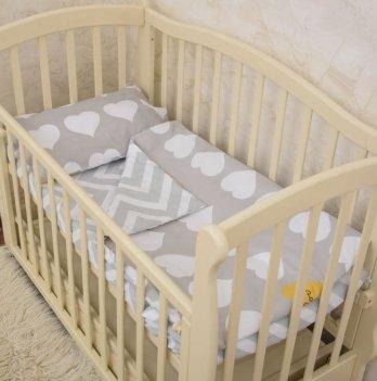 Детское постельное белье в кроватку Бетис Сладкие сны Серый 60х120 см