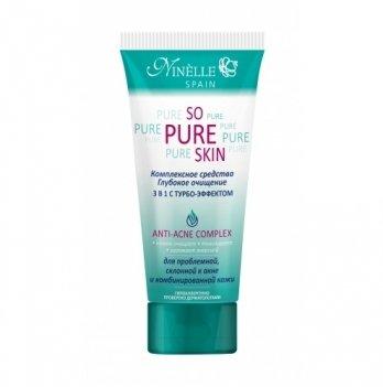 Комплексное средство для проблемной кожи глубокое очищение 3в1 с турбо-эффектом So Pure Skin, Ninelle