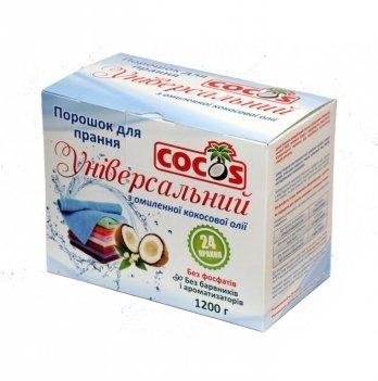 Бесфосфатный стиральный порошок, Cocos, с омыленного кокосового масла 1200 г, 6361