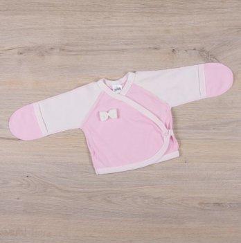 Распашонка для новорожденных Бетис Бантик Розовый молочный