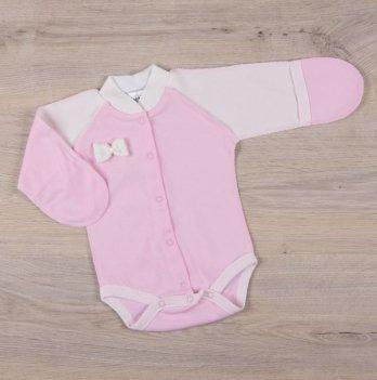 Бодик для новорожденных Бетис Бантик Розовый молочный