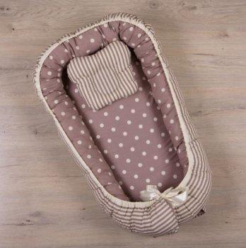 Кокон для новорожденных Бетис Вишенка Бордо