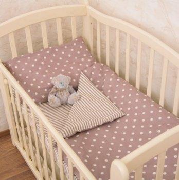 Детское постельное белье в кроватку Бетис Вишенка Бордо 60х120 см