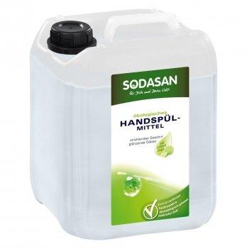 Органическое жидкое средство-концентрат для мытья посуды Sodasan, Лимон, 5 л